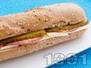 Рецепта Сандвич с пълнозърнеста питка, кисели краставички и пуешко филе